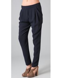 3.1 Phillip Lim | Blue Draped Tapered Trousers | Lyst
