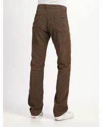 7 For All Mankind - Brown Austyn Straight-leg Corduroy Jeans for Men - Lyst