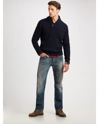 Gant Rugger - Blue Shawl-collar Sweater for Men - Lyst