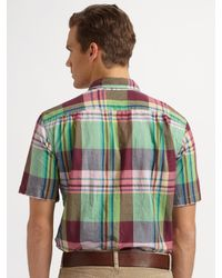 Polo Ralph Lauren - Green Five-pocket Linen/cotton Pants for Men - Lyst