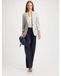 Stella McCartney | Blue Classic Straight Leg Trousers | Lyst