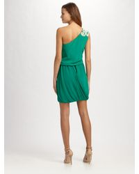 Tibi - Green Farrah One-shoulder Dress - Lyst