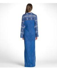 Tory Burch | Blue Charleen Printed Cotton Kaftan | Lyst