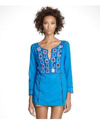 Tory Burch | Blue Gerde Top | Lyst