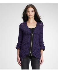 Tory Burch | Purple Palmira Cardigan | Lyst