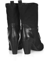 Marc By Marc Jacobs - Black Canvas and Leather Boots - Lyst