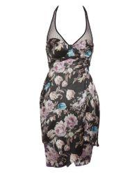 Preen By Thornton Bregazzi | Multicolor Floral Print Halter Dress | Lyst