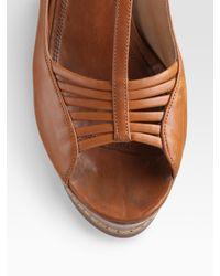 Derek Lam - Brown T-strap Leather Wedges - Lyst