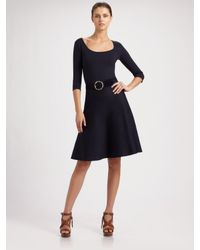 Ralph Lauren Black Label | Blue Silk Knit Circle Skirt | Lyst