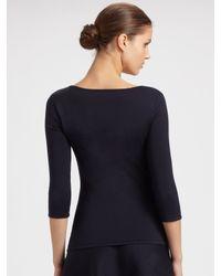 Ralph Lauren Black Label | Blue Silk Knit Circle Skirt | Lyst