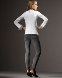 7 For All Mankind | Gray Gwenevere Gummy Jeans | Lyst