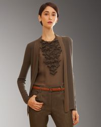 Akris | Brown Cashmere-silk Cardigan | Lyst