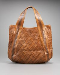 Beirn | Brown Woven Jenna Watersnake Tote | Lyst