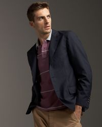 Brunello Cucinelli - Blue Deconstructed Blazer for Men - Lyst
