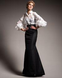 Carolina Herrera - White Origami-sleeve Shirted Gown - Lyst