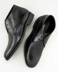 Ferragamo | Black Felino Chukka Boot | Lyst