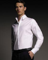 Giorgio Armani | White Microstripe Shirt for Men | Lyst