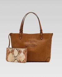 Gucci | Natural Craft Medium Tote | Lyst