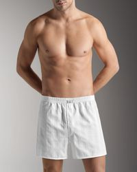 Hanro | White Retro Boxers for Men | Lyst