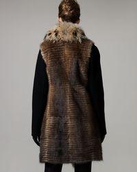 J. Mendel - Brown Natural Fur Gilet - Lyst