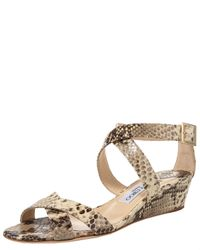 Jimmy Choo - Natural Pump 100mm - Lyst