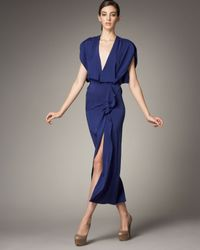Roland Mouret - Blue Coppalia Ruffled Dress - Lyst