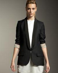 Stella McCartney | Black Wool-twill Tuxedo Jacket | Lyst