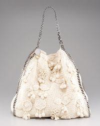 Stella McCartney | Beige Falabella Large Crochet Bag | Lyst