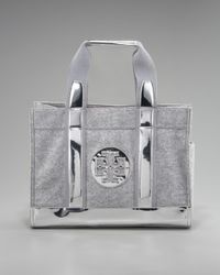Tory Burch   Gray Flannel Tory Tote   Lyst