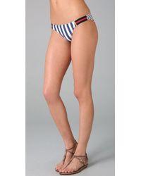OndadeMar | Blue Tigris Delta Bikini Bottoms | Lyst