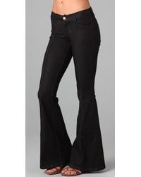Pray For Mother Nature - Black Devils Post Pile Flare Jeans - Lyst