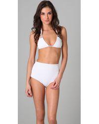 Tori Praver Swimwear   White Daisy Triangle Bikini Top   Lyst