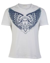 Alexander McQueen - Gray Angel Wings T-shirt for Men - Lyst