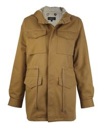 A.P.C. | Yellow Mustard Parka Jacket | Lyst