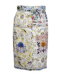 Etro - Green Paisley Print A-line Skirt - Lyst