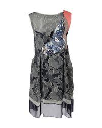 Michael van der Ham | Blue Sleeveless Patchwork Dress | Lyst