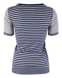 Sonia by Sonia Rykiel - Blue and White Stripe Anchor Top - Lyst