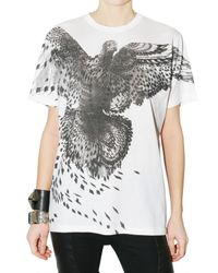Givenchy - White Dove Print Oversize Jersey T-shirt - Lyst