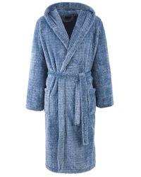 John Lewis - Blue Fleece Robe Denim for Men - Lyst