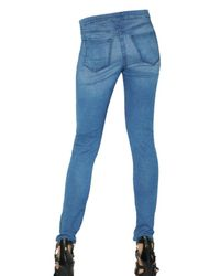 Kova & T | Blue Ligth Stretch Denim Leggings | Lyst