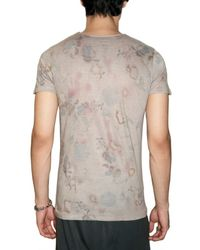 Max Six | Gray Flower Skull Jersey T-shirt for Men | Lyst