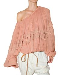 Mes Demoiselles - Pink Cotton Gauze Shirt - Lyst