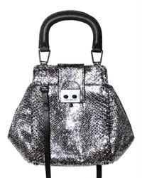 Pauric Sweeney - Metallic Shiny Python Crossbody Shoulder Bag - Lyst