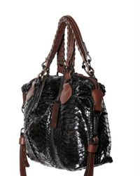 Pauric Sweeney | Black Shiny Python Overnight Top Handle | Lyst
