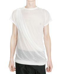Rick Owens - White Sheer Silk Jersey T-shirt for Men - Lyst