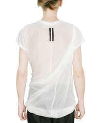 Rick Owens | White Sheer Silk Jersey T-shirt for Men | Lyst