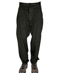 Silent - Damir Doma | Black Twisted Poplin Trousers for Men | Lyst