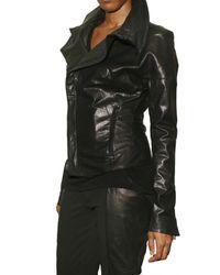 Todd Lynn - Black Puff Sleeve Leather Jacket - Lyst