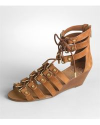 Tory Burch - Brown Ames Lace Up Sandal - Lyst