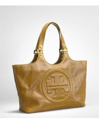Tory Burch | Brown Bombe Burch Tote | Lyst